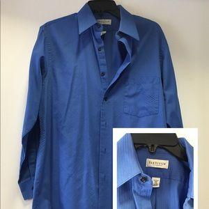 Men's textured dress shirt